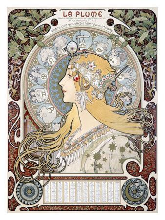 Klicka på Alphonse Muchas zodiakposter för att komma till min engelskspråkiga blogg!