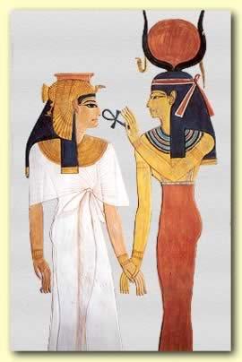 Isis överräcker Livet till Nefertite