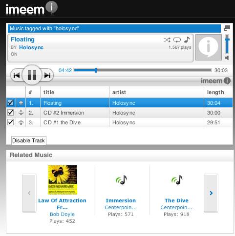 Här kan du lyssna på Holosync mm direkt från nätet! Ladda ned också.