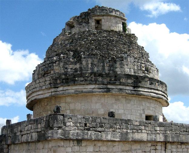 Så här föga hi-tech såg Mayas observatorium ut. :razz: