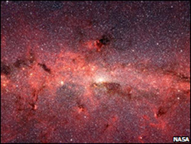 Vintergatan är uppbyggd kring ett ofantligt Svart hål. Far out, eh..? :lol: