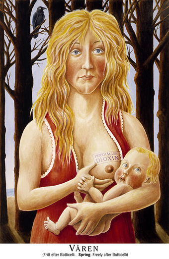 Fritt after Botticelli, tydligen. Hmm.. Venys födelse känner man ju till, men den här ...?