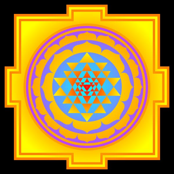 Sri Yantrat är ett av de äldsta och mest kända. Sri Yantra är ett diagram som visar hur hinduerna uppfattar den kosmiska utvecklingen.
