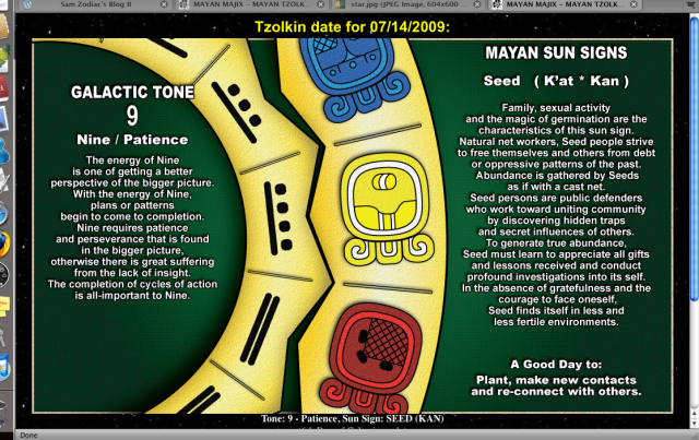 Egenskaperna för dagens datum enligt Mayakalendern