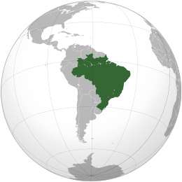 Brasiliens plats på världskartan....