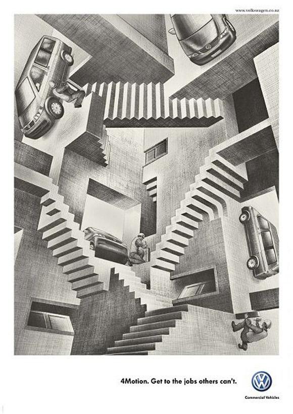 Ja, mer Escherinspirerat än så här blir det väl knappast..? :D