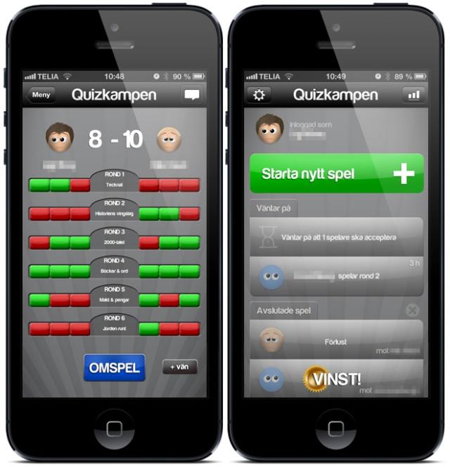 Quizkampen på iPhone5 / Quizkampen on an iPhone5